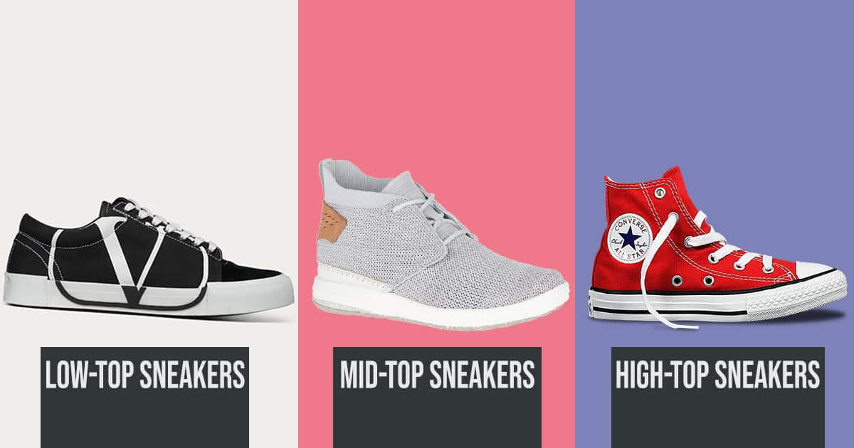 Types of Sneakers-Low Mid High Top