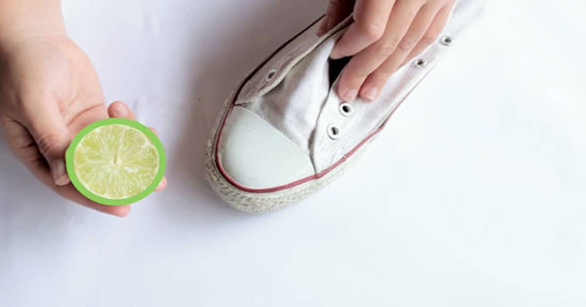 How to Clean White Converse Sweeping with Lemon