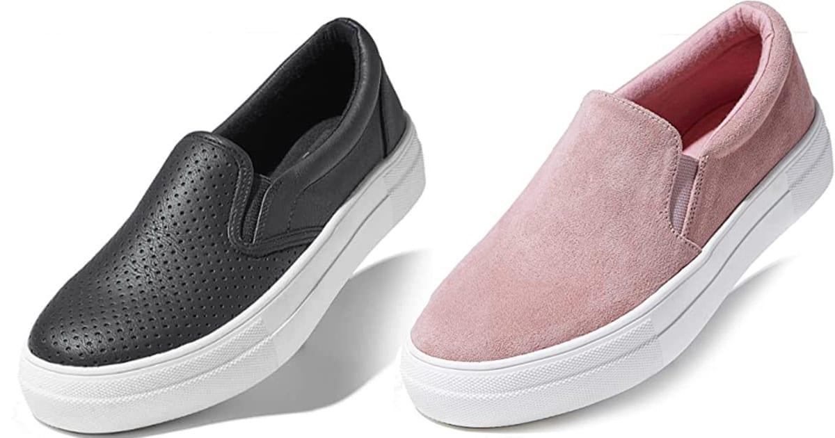 DailyShoes Women's Flat Memory Foam Slip-On Sneakers
