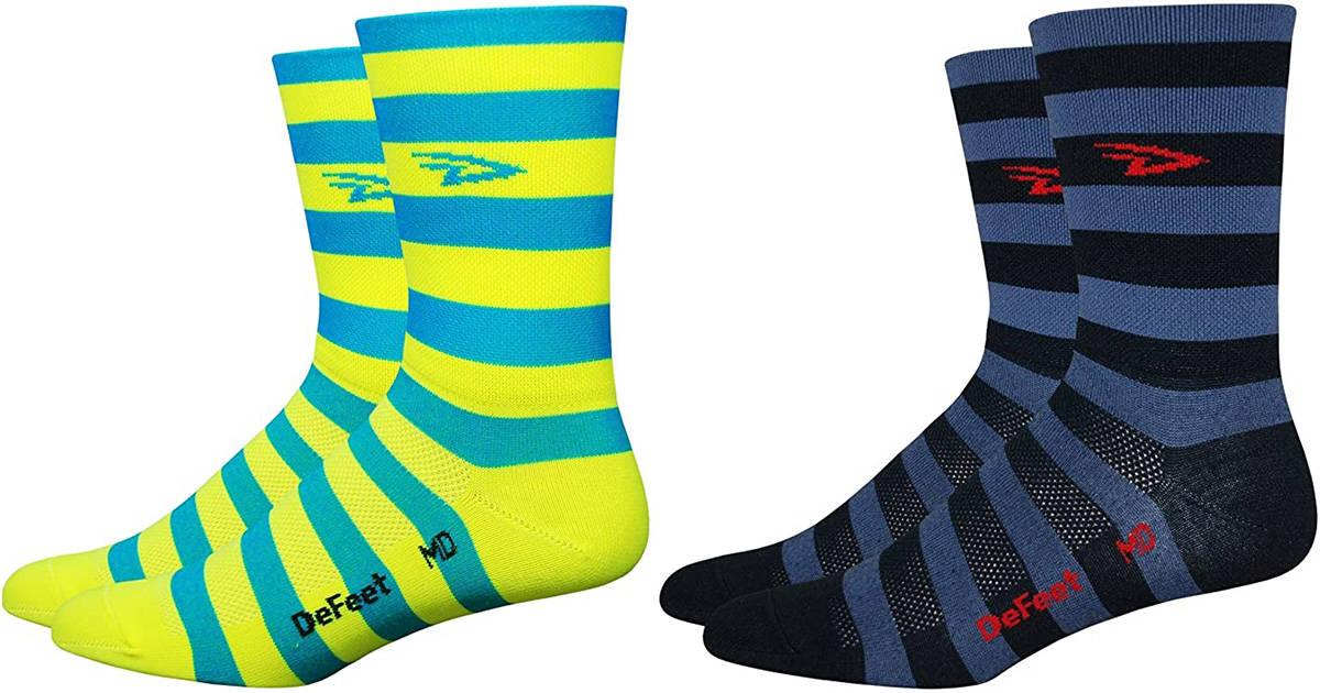 DeFeet Aireator Striper Cuff Sock