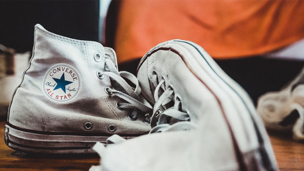 White Converse Shoe